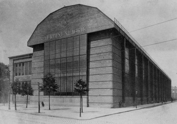 Antologia iconografica dell 39 architettura moderna for Peter behrens aeg turbine factory